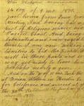 William Hobson Memorandum