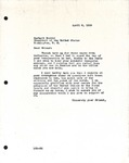 Levi Pennington to President Herbert Hoover, April 6, 1929