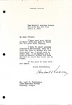 Herbert Hoover to Levi Pennington, April 3, 1951 by George Fox University Archives