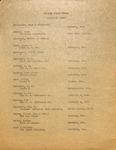 Hoover House Fund General List