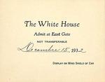 White House Invitation of Mrs. Eugene V. Ward