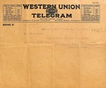 Telegram from Mrs. C D Henry to Mrs. [McLelland], November 20, 1925