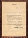 Herbert Hoover to Mr. Barker, December 10, 1953
