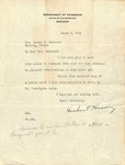 Herbert Hoover to Amanda Woodward, March 6, 1924