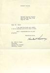 Herbert Hoover to Milo Ross, May 25, 1959