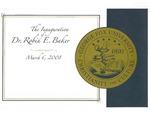 Inauguration of Dr. Robin E. Baker