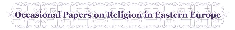 Occasional Papers on Religion in Eastern Europe