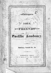 Pacific Academy Catalog, 1885-1886 by George Fox University Archives