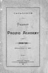 Friends Pacific Academy Catalog, 1889-1890