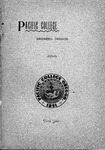 Pacific College Catalog, 1894