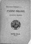 Pacific College Catalog, 1896