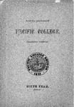 Pacific College Catalog, 1897