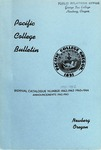 Pacific College Catalog, 1943