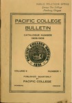 Pacific College Catalog, 1909