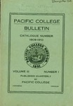 Pacific College Catalog, 1910