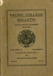 Pacific College Catalog, 1911