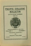 Pacific College Catalog, 1911-1913 by George Fox University Archives