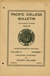 Pacific College Catalog, 1912-1914
