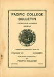 Pacific College Catalog, 1914