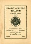 Pacific College Catalog, 1913-1915