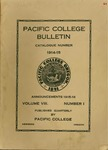 Pacific College Catalog, 1915