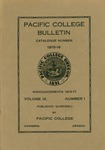 Pacific College Catalog, 1916