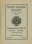 Pacific College Catalog, 1916-1918