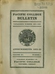 Pacific College Catalog, 1922