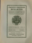 Pacific College Catalog, 1931
