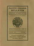 Pacific College Catalog, 1931-1933 by George Fox University Archives