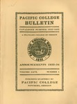 Pacific College Catalog, 1933