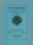 Pacific College Catalog, 1934