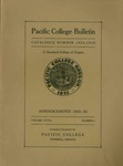 Pacific College Catalog, 1935