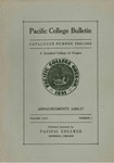 Pacific College Catalog, 1935-1937 by George Fox University Archives