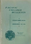 Pacific College Catalog, 1937