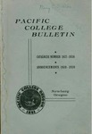 Pacific College Catalog, 1938