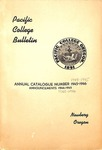 Pacific College Catalog, 1945 a