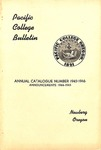 Pacific College Catalog, 1944-1946