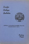 Pacific College Catalog, 1945-1947