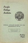 Pacific College Catalog, 1947-1949
