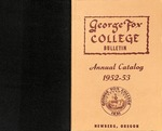 George Fox College Catalog, 1952-1953