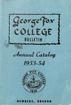 George Fox College Catalog, 1953-1954