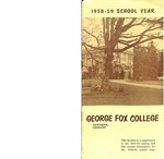 George Fox College Catalog Supplement, 1958-1959