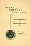 Pacific College Catalog, 1939-1941 by George Fox University Archives