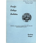 Pacific College Catalog, 1942