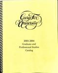 George Fox University Graduate Catalog, 2003-2004