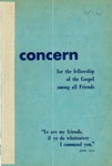 The Concern of Evangelical Friends for the Fellowship of the Gospel Among All Friends, Spring 1959 by Arthur O. Roberts Editor