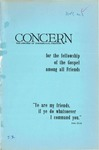 The Concern of Evangelical Friends for the Fellowship of the Gospel Among All Friends, June 1959
