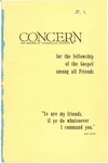 The Concern of Evangelical Friends for the Fellowship of the Gospel Among All Friends, Spring 1960