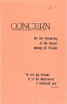 The Concern of Evangelical Friends for the Fellowship of the Gospel Among All Friends, Summer 1960 by Arthur O. Roberts Editor